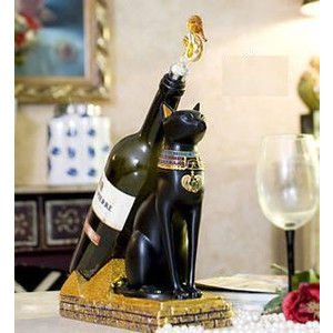 ワインホルダー エジプト 猫神 モチーフ